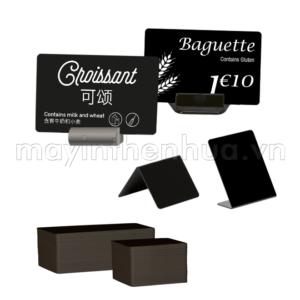 Thẻ nhựa PVC đen price tag
