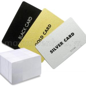 Thẻ nhựa PVC nhũ bạc cao cấp