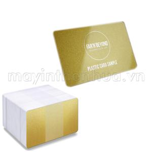 Thẻ nhựa PVC nhũ vàng