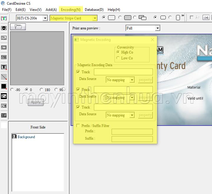 Bộ mã hóa thẻ từ máy in HiTi CS200e