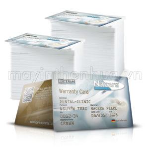 In thẻ bảo hành răng sứ nha khoa cao cấp