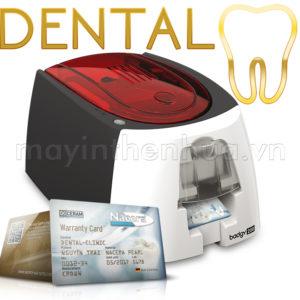 Máy in thẻ bảo hành răng sứ Evolis Badgy200