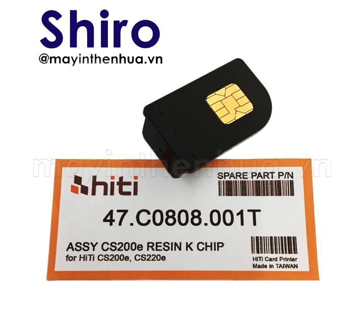 Chip ruy băng đen máy in thẻ nhựa HiTi CS200e