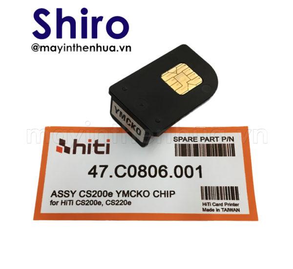 Chip màu YMCKO máy in thẻ nhựa HiTi CS200e