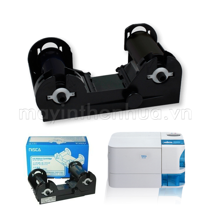 Ruy băng mực đen máy in thẻ nhựa Nisca PR-C101