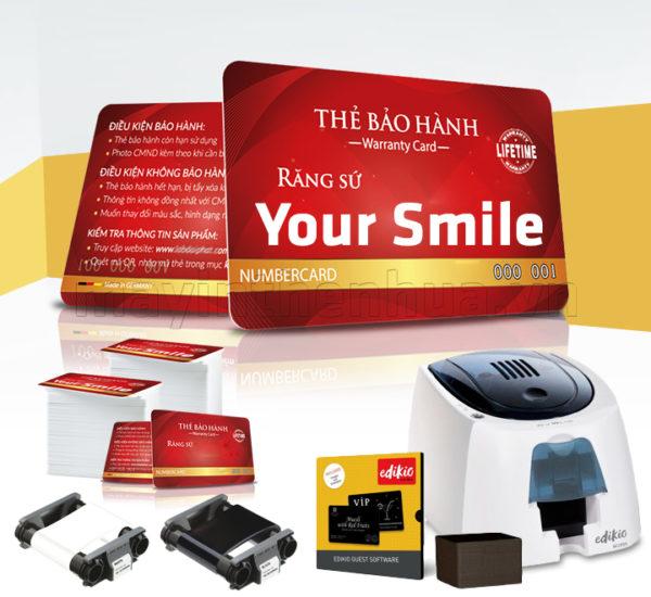 Máy in thẻ bảo hành răng sứ cho LABO Edikio