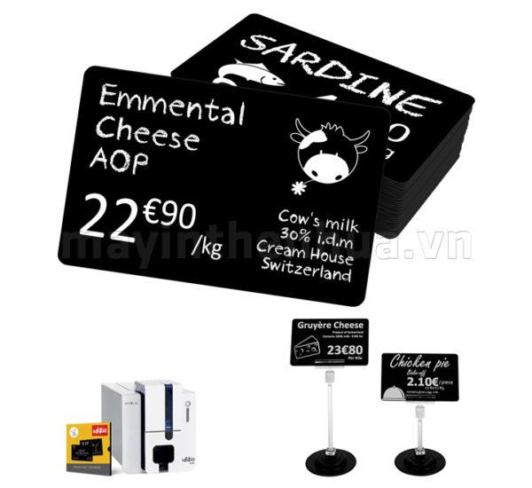 Thẻ nhựa Edikio màu đen 86mm