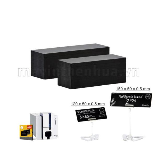 Thẻ nhựa Edikio màu đen 150mm