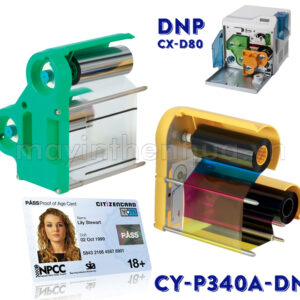 Ruy băng màu CY-P340A-DN máy in thẻ nhựa DNP CX-D80