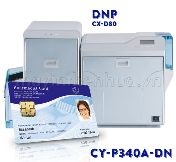 Ruy băng màu CY-P340A-DST máy in thẻ nhựa DNP CX-D80HS