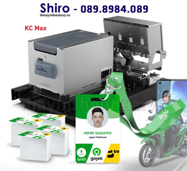 Máy in thẻ bảng tên QR code cho Shipper